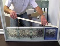 Joint brique de verre